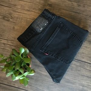 LEVI'S Black Denim Jeans 36x34
